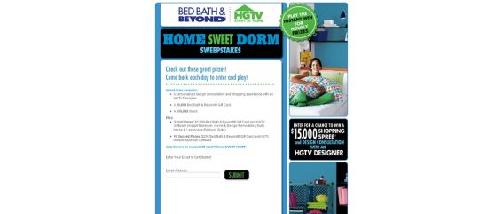 Bed Bath & Beyond Home Sweet Dorm Sweepstakes
