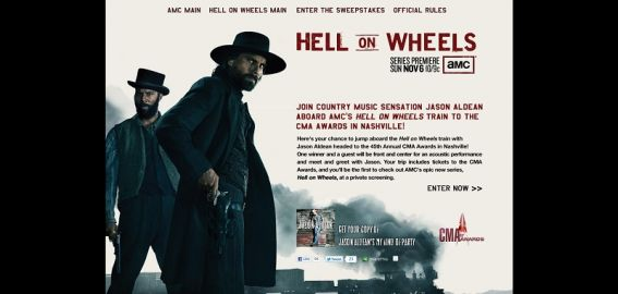 hellonwheelstrain.com – Ride AMC's Hell On Wheels Train to the CMA Awards Sweepstakes