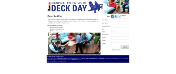 Enjoy Your Deck Day Sweepstakes