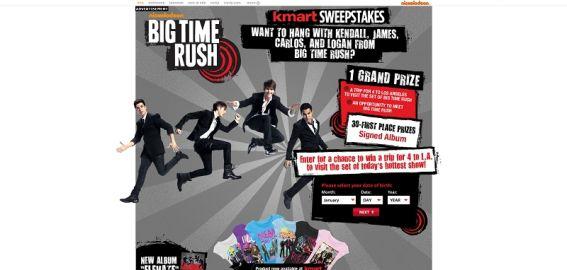 nick.com/KmartSweeps – Big Time Rush Kmart Sweepstakes