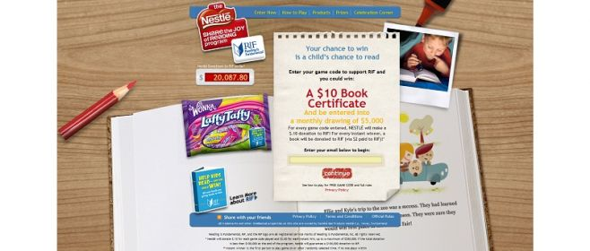 Celebrationcorner.com/RIF – Share the Joy of Reading Instant Win Game and Monthly Sweepstakes