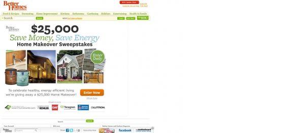 BHG.com $25,000 Save Money Save Energy Home Makeover Sweepstakes