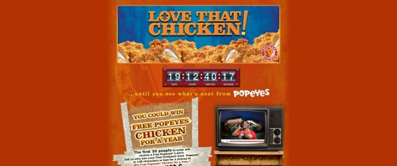 lovethatchicken.com – Popeyes Love that Chicken Contest