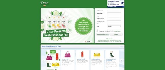 freshpicksforfall.com – DOVE Fresh Picks for Fall Sweepstakes