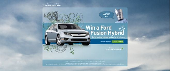 Drive Clean Across Texas Sweepstakes
