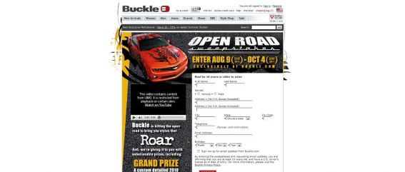 Open Road Sweepstakes