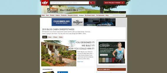 DIY Blog Cabin Sweepstakes