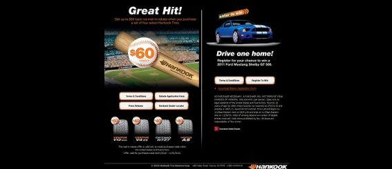 Hankook Great Hit Ford Mustang Shelby GT500 Giveaway