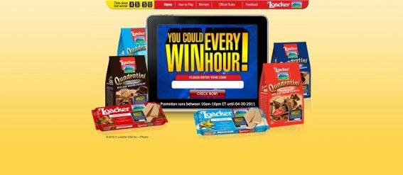loacker.com – Loacker Win Every Hour Sweepstakes