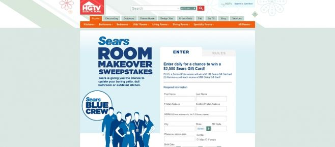 Sears Room Makeover Sweepstakes