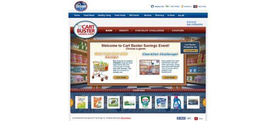 kroger.com/Cartbuster – Kroger Cart Buster Game