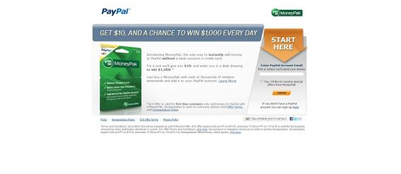 moneypakpromotion.com – Green Dot MoneyPak Sweepstakes