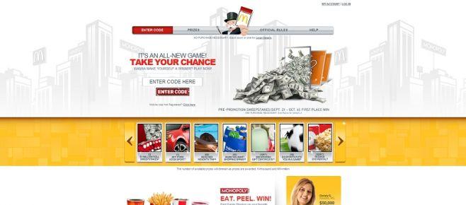 playatmcd.com – 2010 MONOPOLY Game at McDonald's