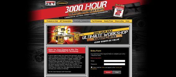 JET / POWERMATIC 3000 Hour Season Long Sale Sweepstakes