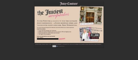 Juicy Couture – The Juiciest Sweepstakes