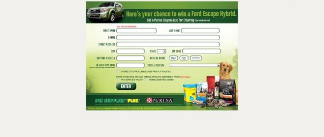 Purina & Pet Supplies Plus Hybrid Giveaway Sweepstakes