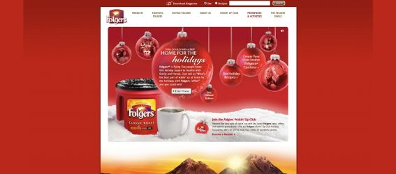 folgers.com/holiday – Folgers  Home for the Holidays Contest