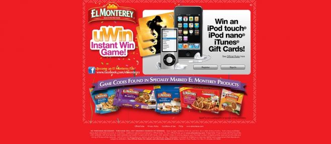 elmonterey.com – El Monterey uWin Instant Win Game