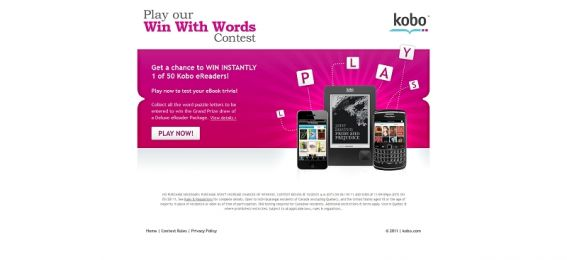Kobo's Win With Words Contest