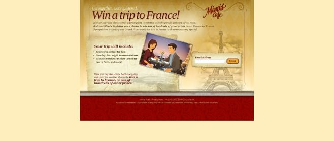 Mimi's Chance for France Sweepstakes