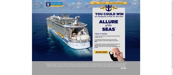 Royal Caribbean Allure of the Seas Sweepstakes