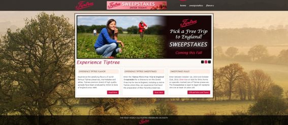 Tiptree Pick a Free Trip to England Sweepstakes