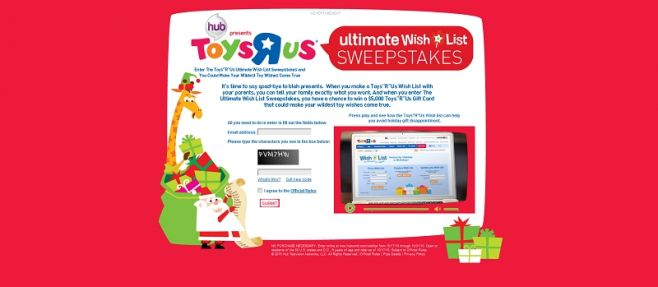 Toys R Us Ultimate Wish List Sweepstakes