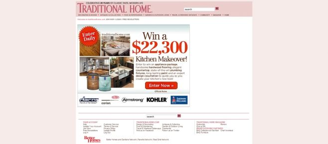 Traditional Home 2010 Kitchen Sweepstakes