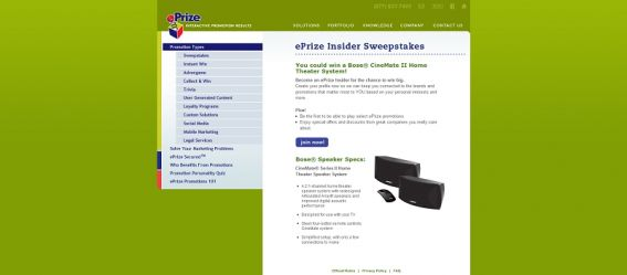 ePrize Insiders Sweepstakes