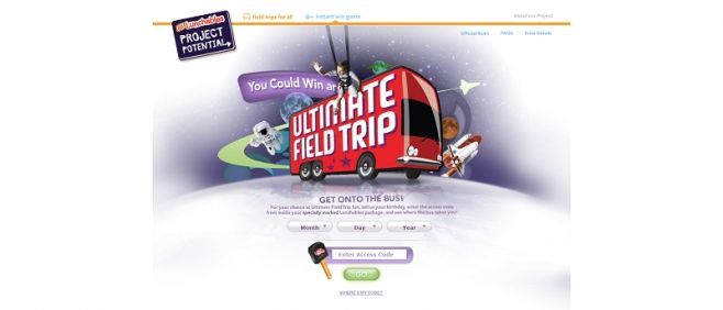 LUNCHABLES Ultimate Field Trip Instant Win Game
