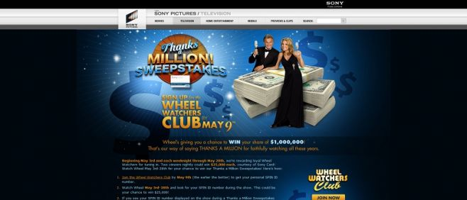 Wheel of Fortune's Thanks a Million Sweepstakes II