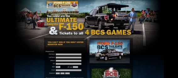 bcstailgate.com – Ford F-150 BCS Ultimate Tailgate Sweepstakes