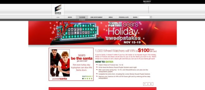 wheeloffortune.com – Wheel of Fortune Sears Holiday Sweepstakes II