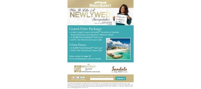 Win It Like A Newlywed Sweepstakes