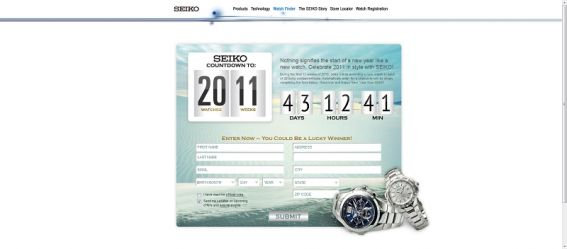 SEIKO Watch Countdown to 2011 Sweepstakes