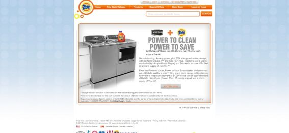 Power to Clean, Power to Save Sweepstakes