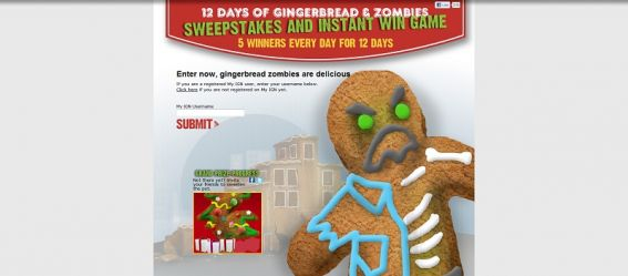 12 Days of Gingerbread & Zombies Promotion