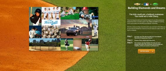 chevybaseball.com – Building Diamond and Dreams Promotion