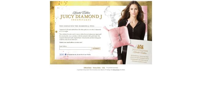 Juicy Diamond J Sweepstakes