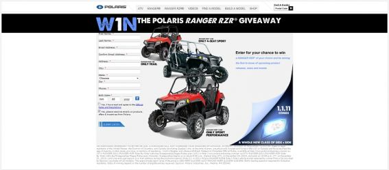Polaris RANGER RZR Sweepstakes