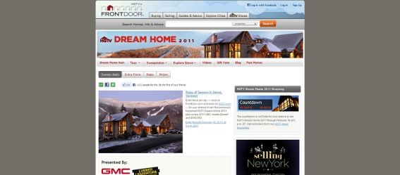 2011 HGTV Dream Home Giveaway Sweepstakes