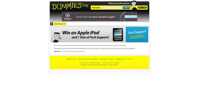 Dummies.com Sweepstakes