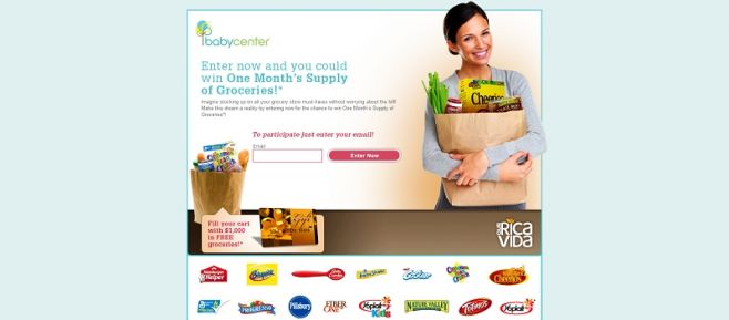 $1,000 Grocery Shopping Spree Sweepstakes