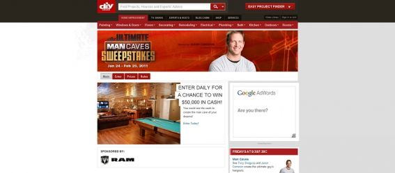 DIY Ultimate Man Caves Sweepstakes