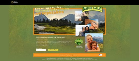 Nature Valley National Parks Project Sweepstakes