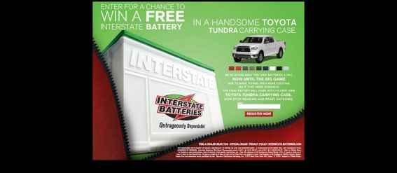 Interstate Batteries Big Game Sweepstakes