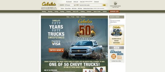 Cabelas 50 Years/50 Trucks Sweepstakes