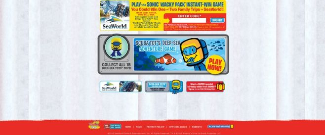 mywackypack.com – SONIC WACKY Pack Instant-Win Game