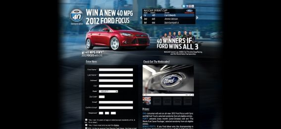 ford40mpg.com – Ford 40 MPG Sweepstakes