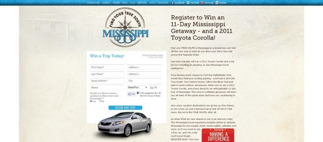 VisitMississippi.org Sweepstakes